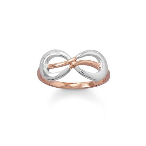 Two Tone Infinity Ring