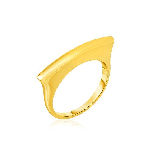 14k Yellow Gold Polished Bar Ring