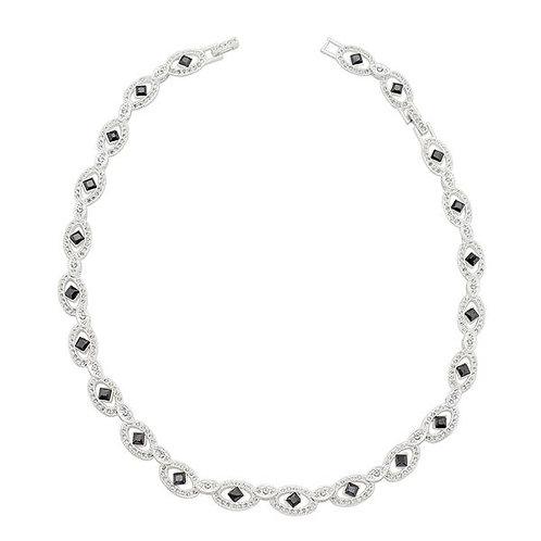Elegant Black and White Necklace