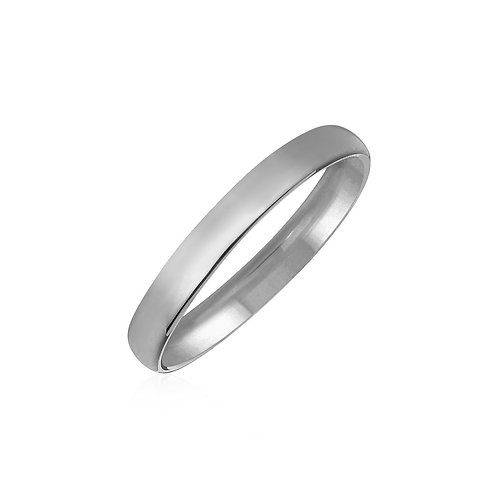 14k White Gold Comfort Fit Wedding Band