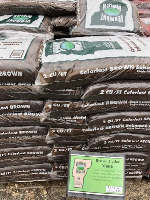 Brown Cedar Colorlast Mulch
