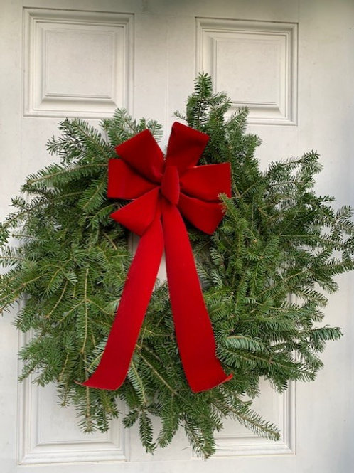 "12"" Balsam Wreath with Bow"