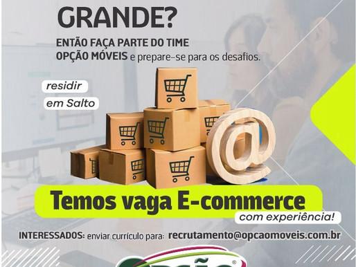 Vaga de E-commerce.