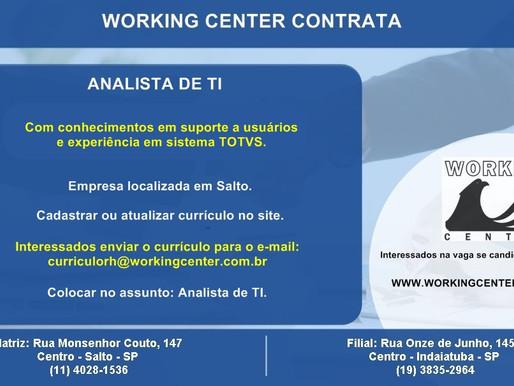 Vagas - Analista de T.I e Coordenador de Laboratório.