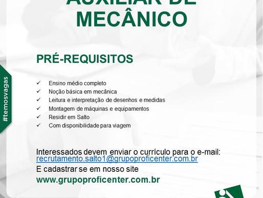 AUXILIAR DE MECÂNICO
