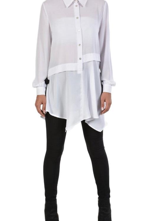 Asymmetrisch geschnittene Damen-Bluse