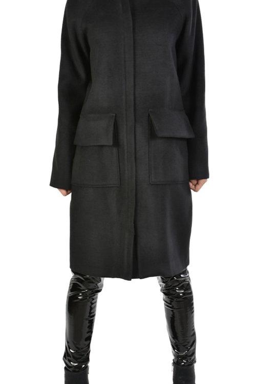 Oversized Damen-Mantel mit Rundhals Kragen