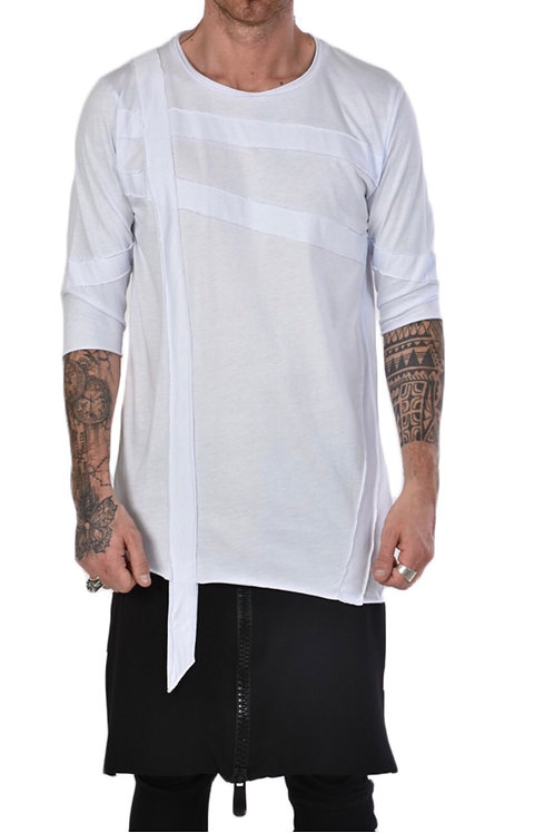 Long-Shirt mit aufgesetzten Nähten.