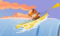 Upstream Kayak Game Image