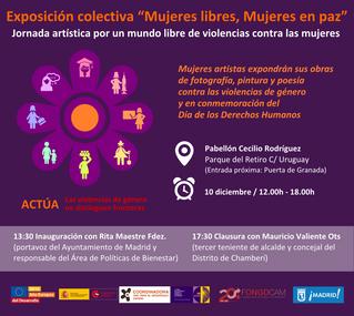 """Exposición colectiva """"Mujeres libres, Mujeres en paz"""""""