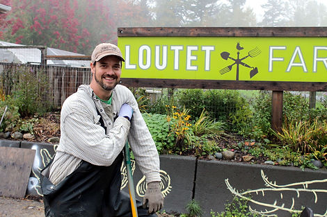 Loutet Farm, North Vancouver, Farmer Gavin