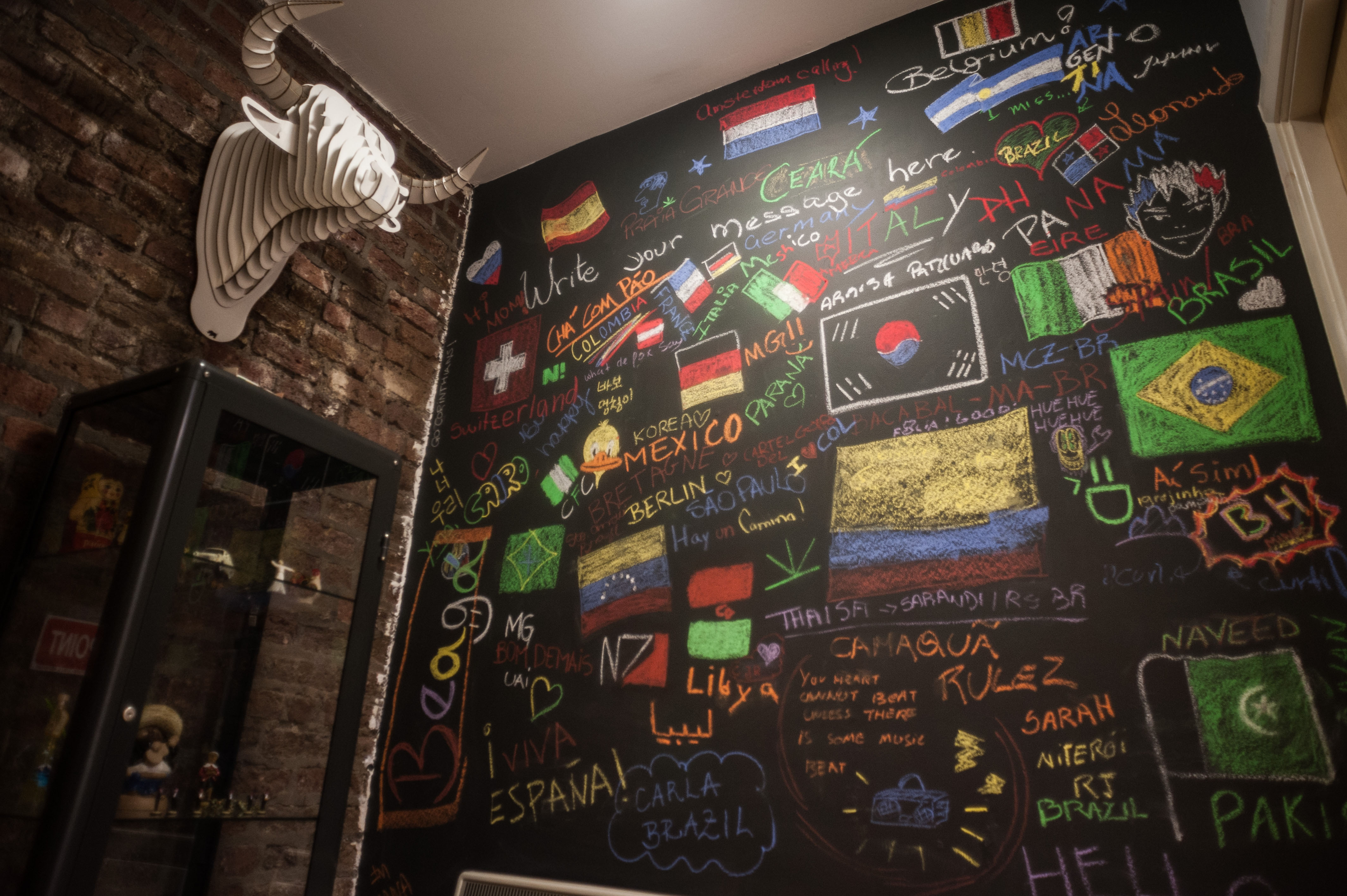 ISI Dublin English Languge School, student chalk board