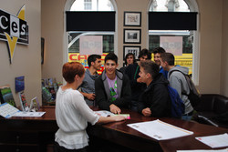 Group of students in reception