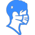 Surgical Mask man free icon.png