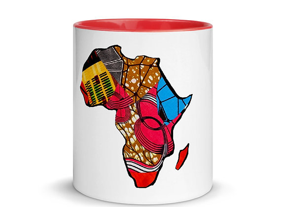 Africa Ceramic Mug with Color Inside