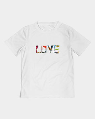 Chitenge love-love long sleeve kids tee.