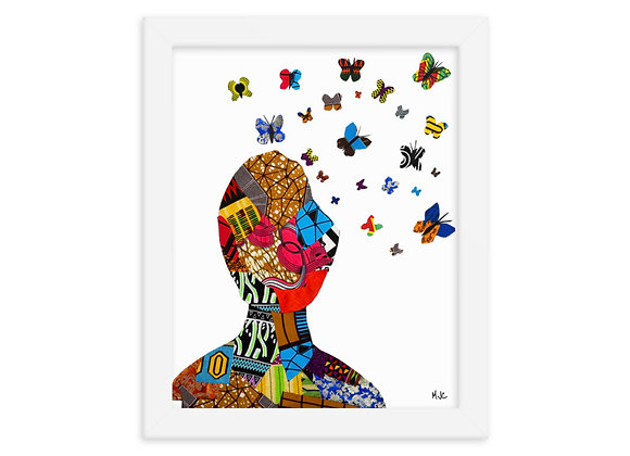 Butterfly Thoughts- 8x10  Framed poster