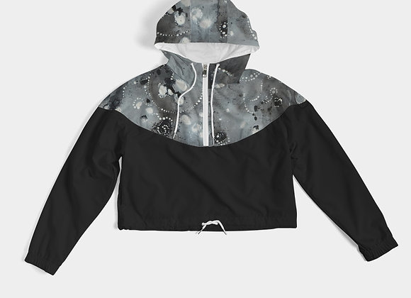 Galaxy Queen Women's Cropped Windbreaker
