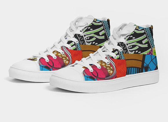 Butterfly Thoughts Hightop Canvas Shoe
