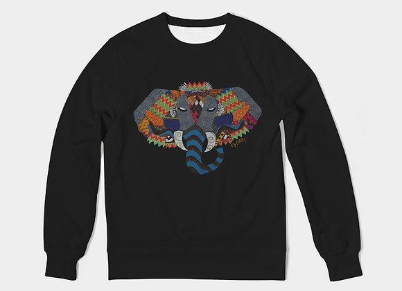 Njovu- Men's Crewneck Pullover Black