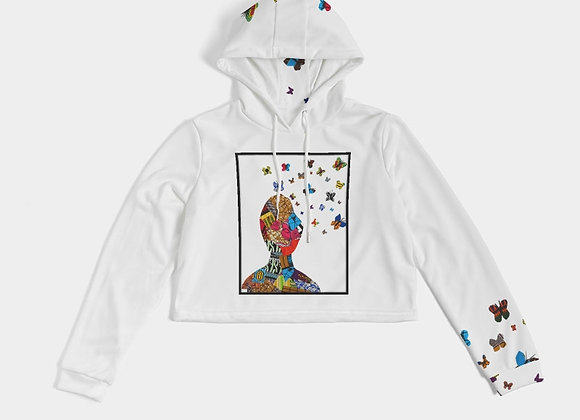 Butterfly Thoughts Cropped Hoodie