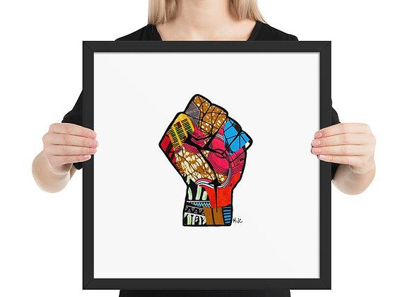 Chitenge Power- (16x16) Framed poster