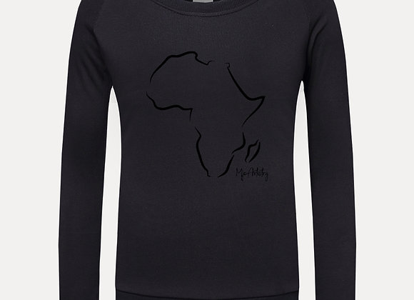 I Love Africa Graphic Sweatshirt- Black