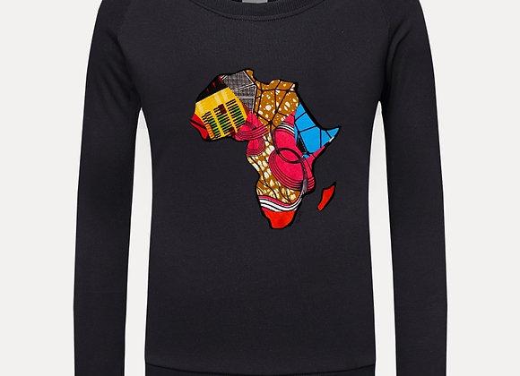 Chitenge AFRICA Graphic Sweatshirt- Black