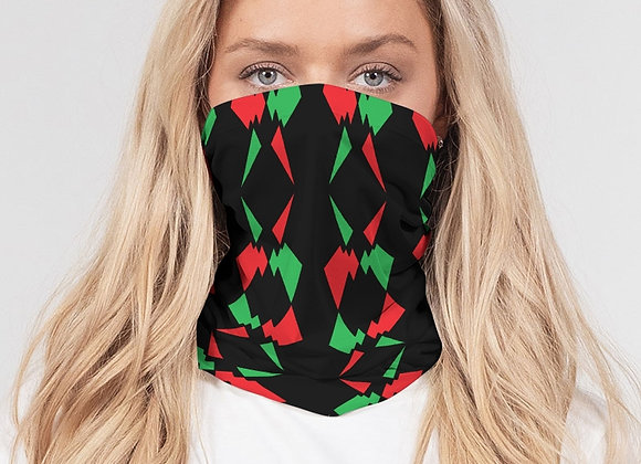 Red, Black & Green Neck (3 pack) Mask Set