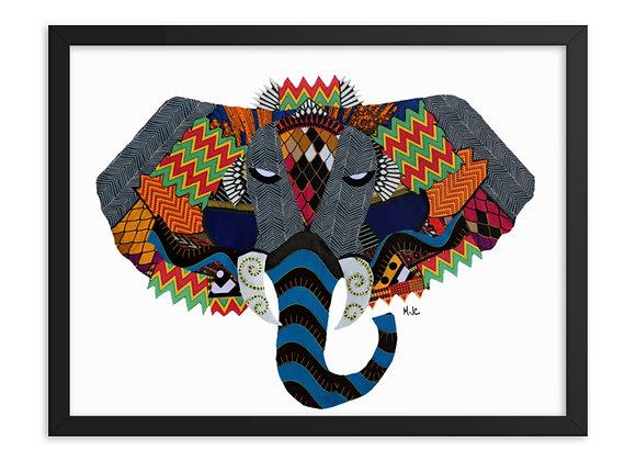 Njovu (Print) - Enhanced Matte Paper Framed Poster (in)