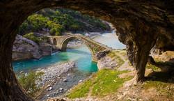 Old bridge at Langarica Canyon