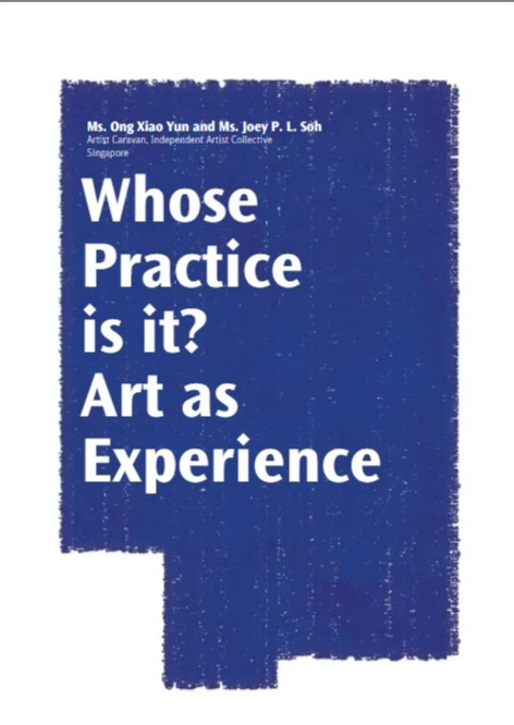 "Publication: ""Whose Practice is it? Art as Experience"""