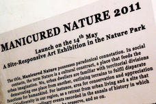 Manicured Nature Exhibition wall write-up