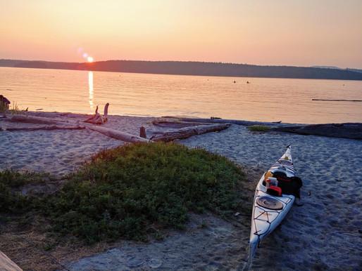 Night paddle, north Lopez Island, WA