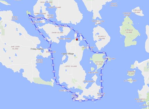Lopez Island circumnavigation