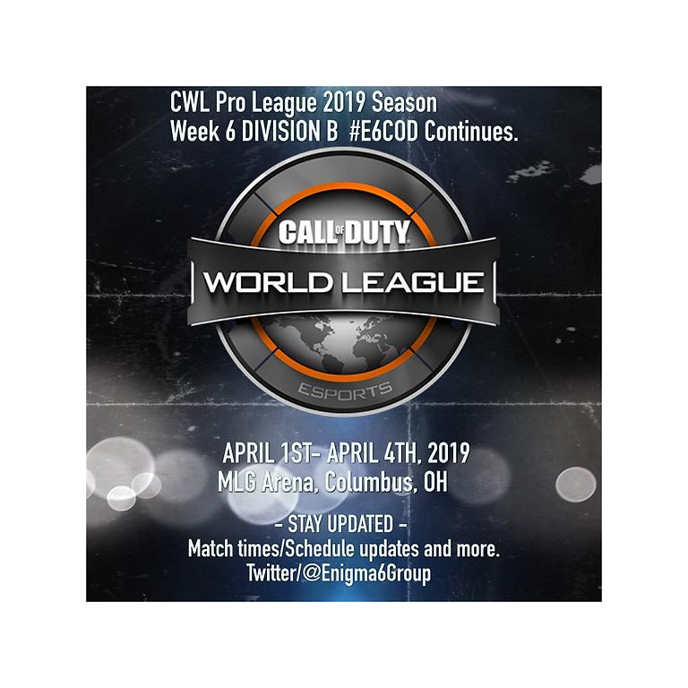 CWL Pro League April 1 - April 5th.  MLG Arena, Columbus, OH