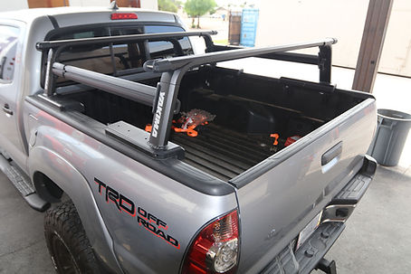 yakima outpost hd truck bed rack setup.j