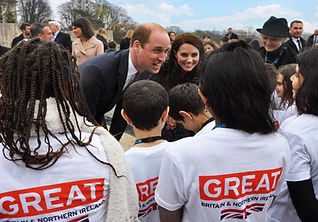 HRH the Duke and Duchess of Cambridge on Royal tour in France