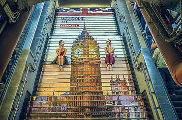 Welcome to Great branding featuring Big Ben on the Mexico tube
