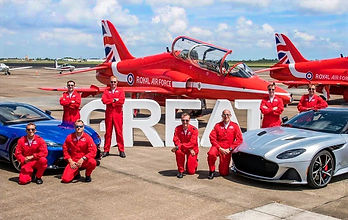 Red Arrows North America  tour with Aston Martin cars