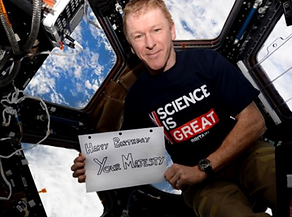 Tim Peake in space wishing HM The Queen a happy birthday