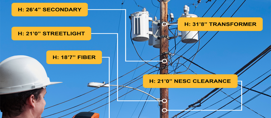 Utility Pole Surveying for Records & Applications