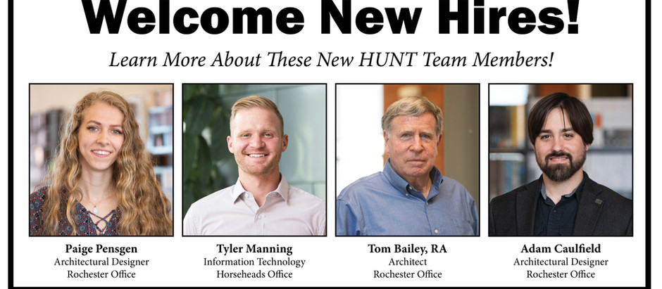 HUNT Welcomes New Hires!
