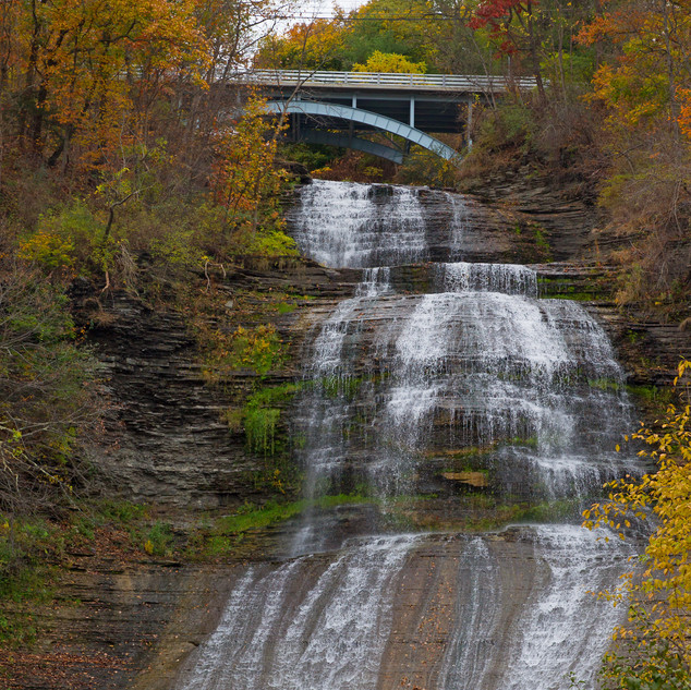 Mill Street Bridge Over Chequaga Falls
