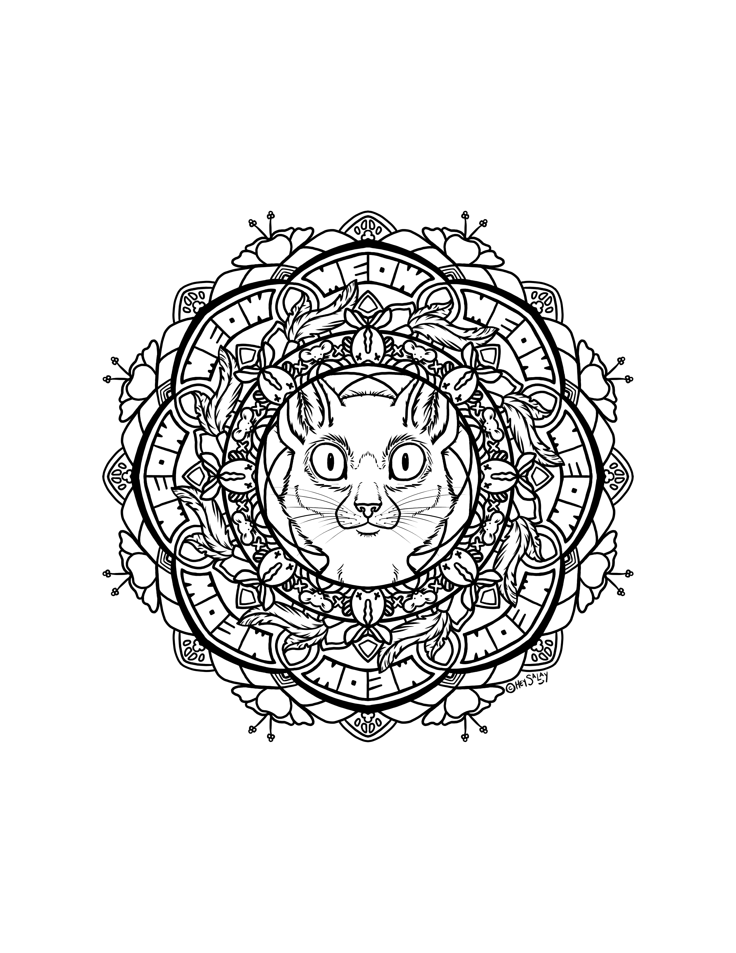 Cat Mandala by Brittany Salay