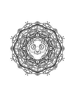 Cat Mandala by Brittany Salay