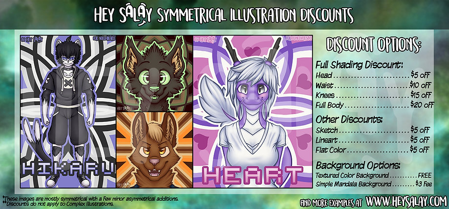 HeySalay's Illustration Commission Options