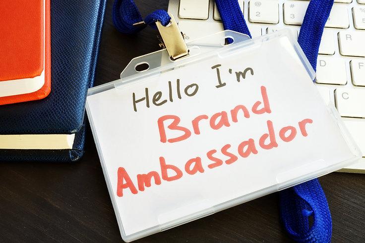 Brand ambassador badge on a keyboard..jp
