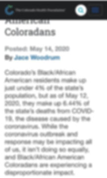 COVID Rate for Black African Americans 3