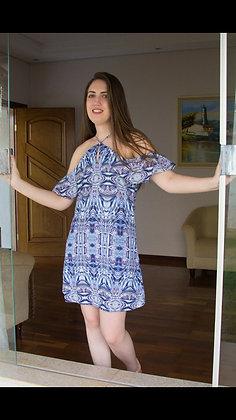 Vestido curto de alças